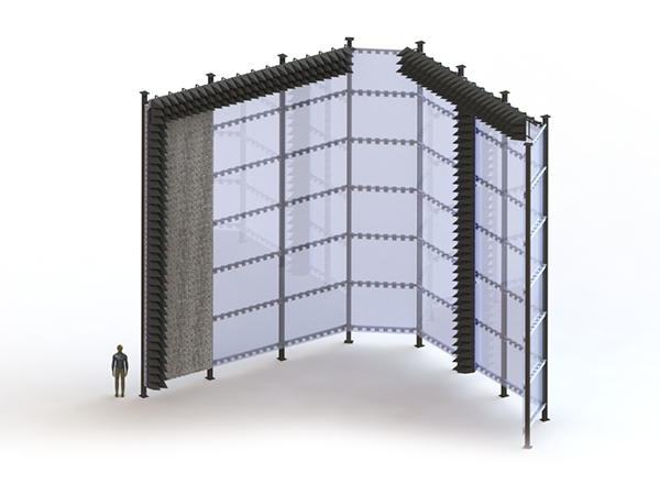 Dielectric Absorber Sliding Walls